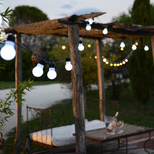Guirlande fête blanc chaud LED - Blachère