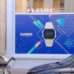Vitrophanie événementielle Casio