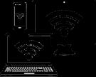 accès internet 4G , internet par satellite Réseaux WIFI Haute densité